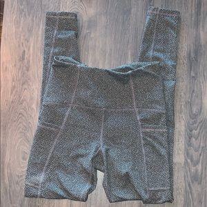 C9 champion Grey speckled leggings w side pocket